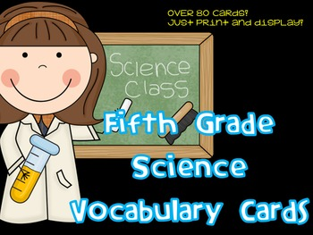 5th Grade Science Vocabulary Card Bundle