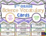 5th Grade Science Vocabulary Cards