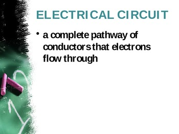 5th Grade Science Vocabulary- Electrical circuits