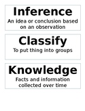 5th Grade Science Vocabulary Wall