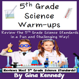 5th Grade Science Test-Prep Warm-ups!  All Year Review!