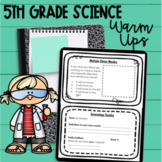 5th Grade Science Warm Ups - NC Essential Science Standards