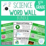 5th Grade Science Word Wall BUNDLE