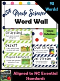 5th Grade Science Word Wall Set