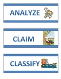 5th Grade Science Word Wall Vocabulary Cards