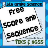 5th Grade Science Year Long Planning Guide (NGSS & TEKS)