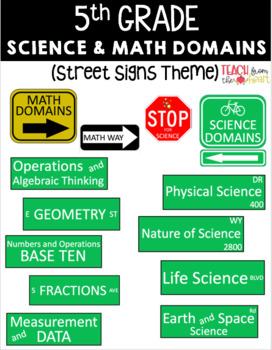 5th Grade Science and Math Domain Labels on