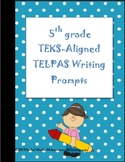 5th Grade Science and Math TEKS-Aligned TELPAS Writing Prompts
