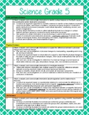 5th Grade Science and Social Studies Standards Reference