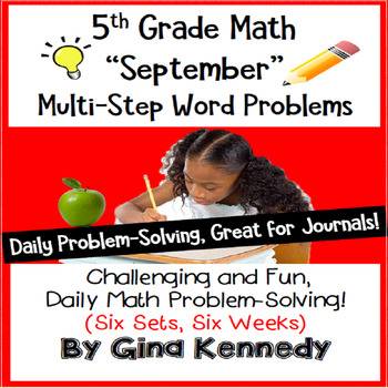 Daily Problem Solving for 5th Grade: September Word Problems (Multi-step)