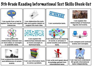 5th Grade Skills Checklists