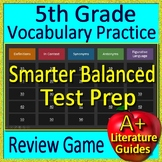 5th Grade Smarter Balanced Test Prep Vocabulary Figurative Language Game CAASPP