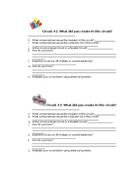 5th Grade Snap Circuit Lab Sheet
