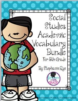 5th Grade Social Studies Academic Vocabulary Bundle