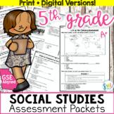 5th Grade Georgia Social Studies Assessment & Study Guide BUNDLE (GSE Aligned)