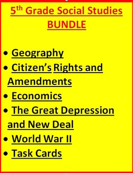 5th Grade Social Studies BUNDLE