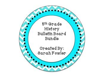 5th Grade Social Studies Bulletin Board Bundle!