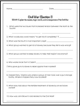 5th Grade Social Studies CC GA Milestones Review Quizzes Year Round Test Prep