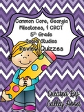 5th Grade Social Studies CC GA Milestones Review Quizzes Y