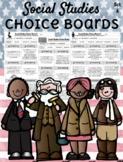 **EDITABLE** Social Studies Choice Boards - Set A
