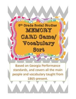 5th Grade Social Studies Concept Sort GPS