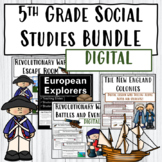 5th Grade Social Studies Digital Lessons   GROWING BUNDLE