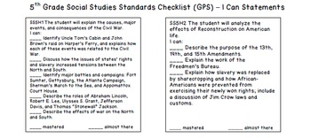 5th Grade Social Studies GPS Standards