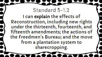 5th Grade Social Studies I Can Statements - South Carolina Standards