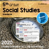 5th Grade Social Studies I Can Statements & Vocabulary (Indiana)