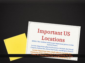 5th Grade Social Studies Important Locations Background Information PowerPoint