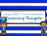 5th Grade Social Studies Learning Targets (for Georgia Sta