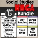 5th Grade Social Studies Mega Bundle: Lessons, Scrapbooks and Timelines