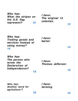 5th Grade Social Studies NYS Exam Test Prep Game