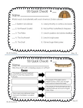 5th Grade Social Studies Quick Check Spiral Review Set (Ohio Model  Standards)