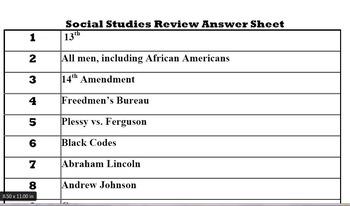5th Grade Social Studies Review Game