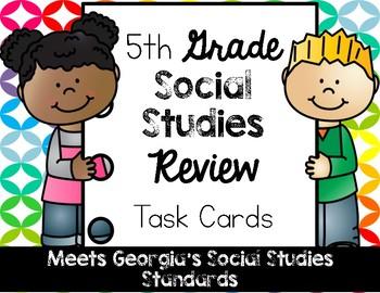 5th Grade Social Studies Review Task Cards