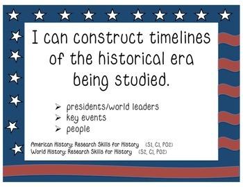 Arizona Social Studies Standards Posters - 5th Grade