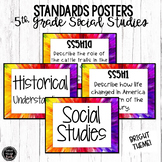 5th Grade Social Studies Standards Posters | BRIGHT Theme