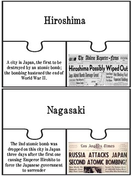 5th Grade Social Studies End of Year Test Review Game Puzzles