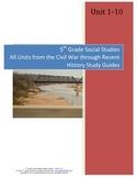 5th Grade Social Studies Study Guides--All Units
