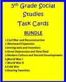 5th Grade Social Studies TASK CARDS  Bundle