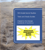 5th Grade Social Studies Tests and Study Guides for All Units--Updated Version