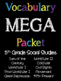 5th Grade Social Studies Vocabulary MEGA Pack