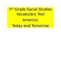 5th Grade Social Studies Vocabulary Test