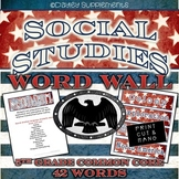 Social Studies Word Wall Cards - Common Core