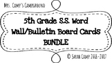 5th Grade Social StudiesWord Wall/Bulletin Board Cards BUNDLE