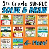 5th Grade Solve & Draw Math Bundle