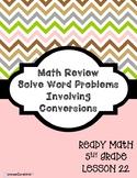 5th Grade Solve Word Problems Involving Conversions