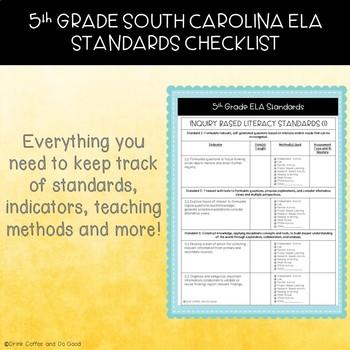 5th Grade South Carolina ELA Standards Checklist