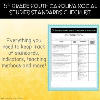5th Grade South Carolina Social Studies Standards Checklist